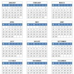 2015 Year Calendar (Word/Writer)