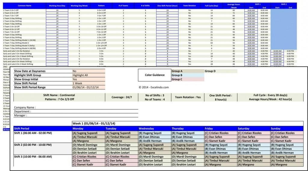 Excel Shift Schedule Maker