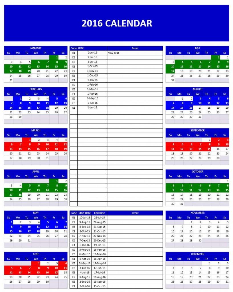 Calendar Planner Excel Template : Calendar templates microsoft and open office