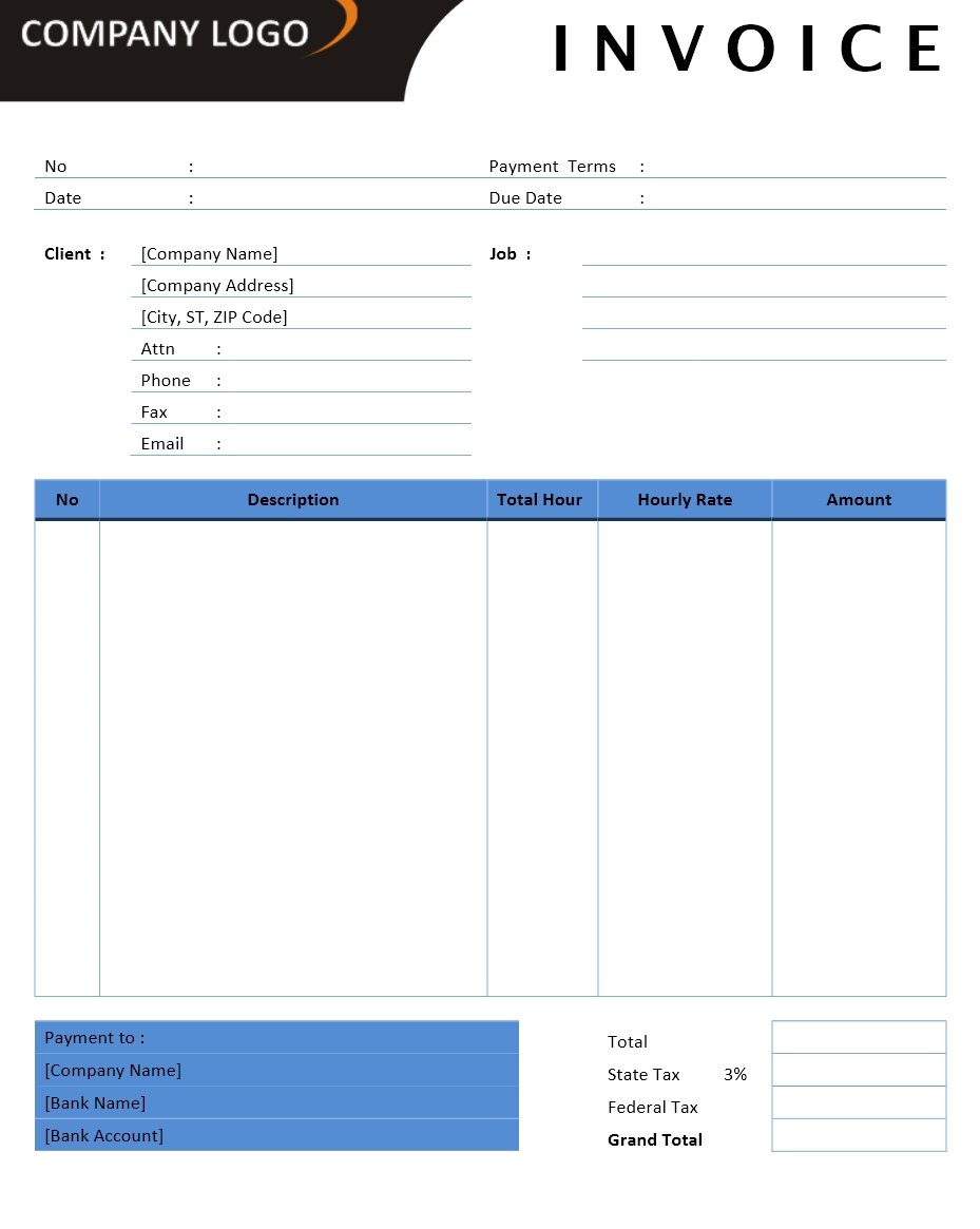 Contractor Invoice Template Word Trattorialeondoro - Business invoice templates microsoft word
