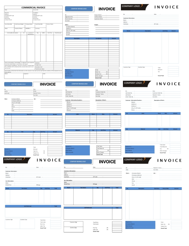 Invoice Templates for Microsoft Excel, Word and Openoffice Writer