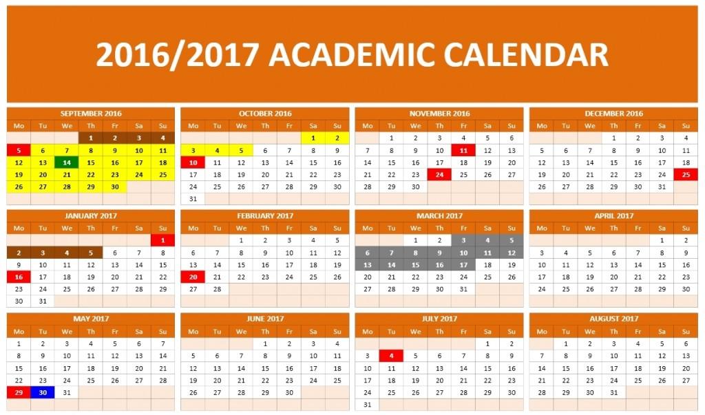 2016-2017 School Calendar 1