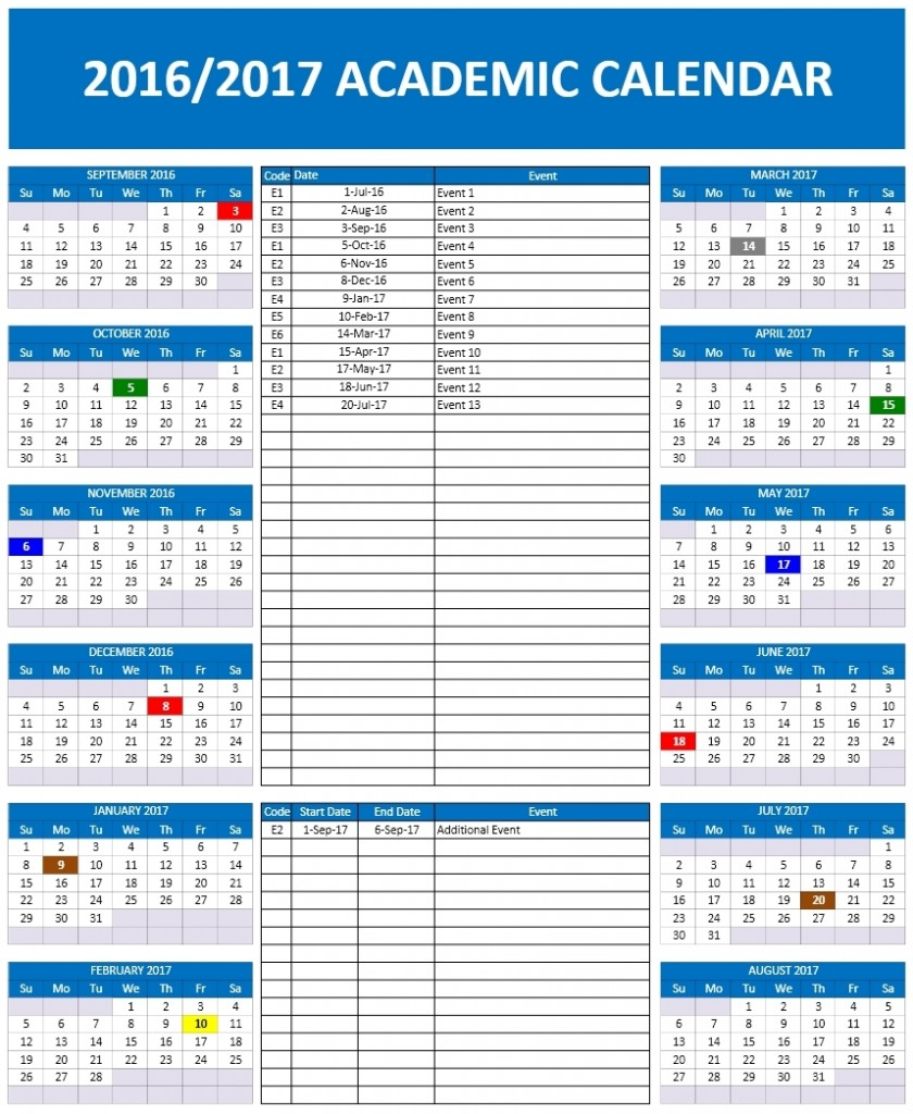 Microsoft Office School Year Calendar Templates Download