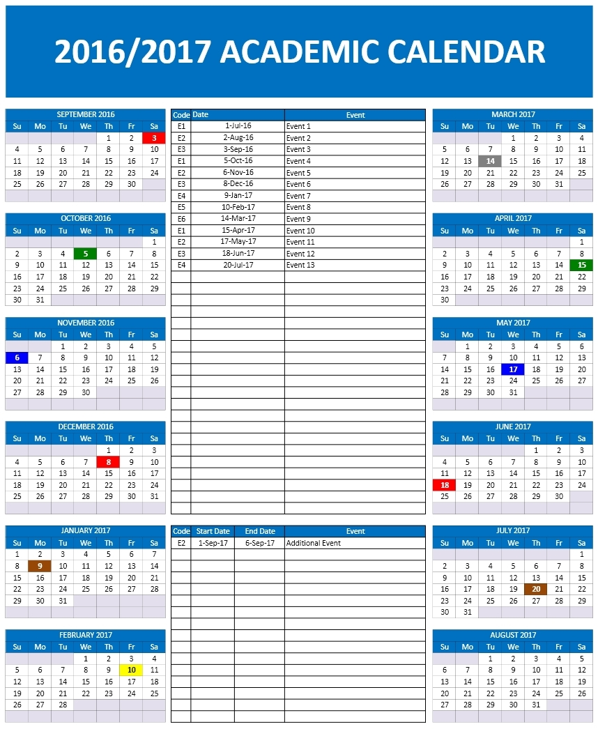 Office Calendar 2016 : School calendar templates microsoft and open