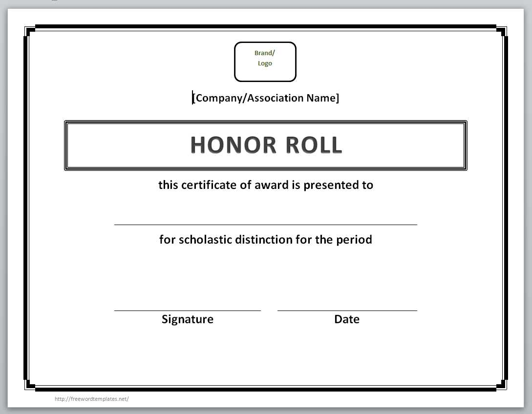 13 free certificate templates for word microsoft and for A b honor roll certificate template