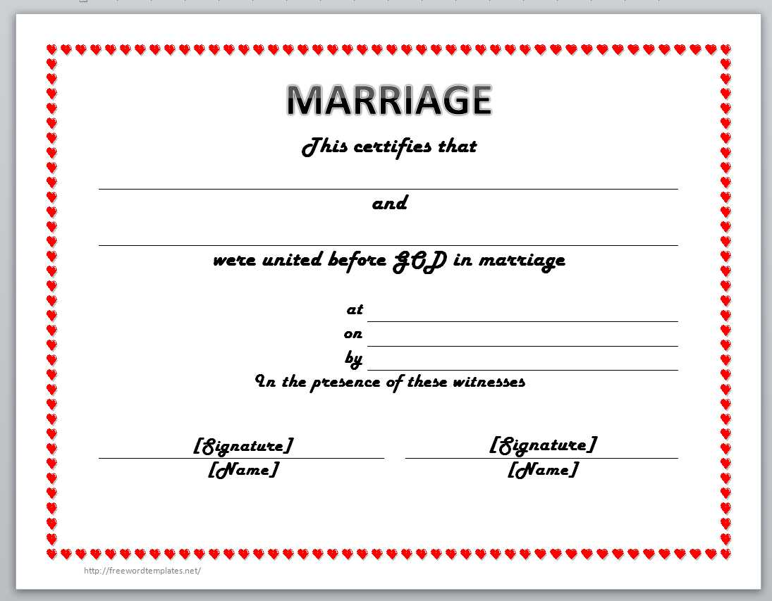 13 free certificate templates for word microsoft and open office marriage certificate template yelopaper Image collections
