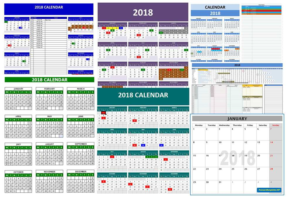 microsoft office 2018 calendar templates