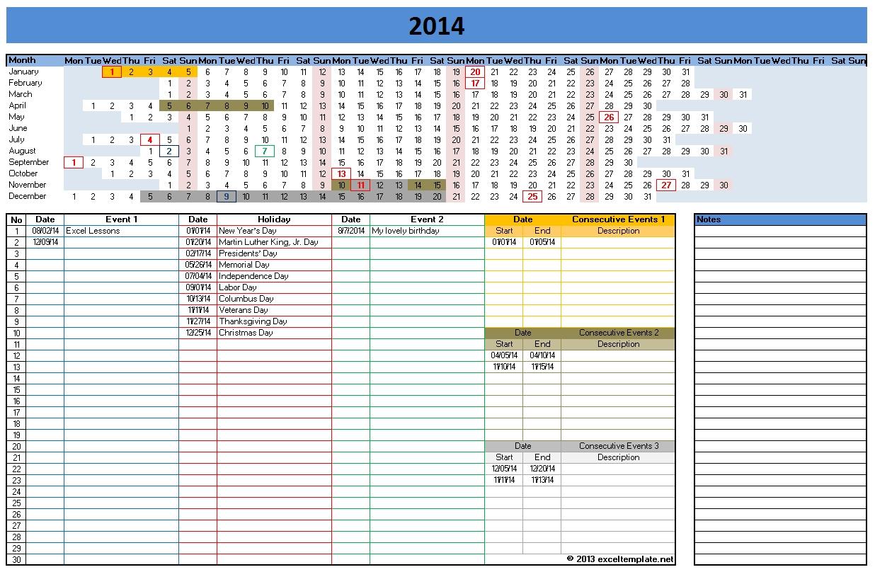 2014 calendar templates microsoft and open office templates for Free calendar templates 2014 canada