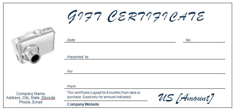 Gift Certificate Template for Electronic/Gadget Store