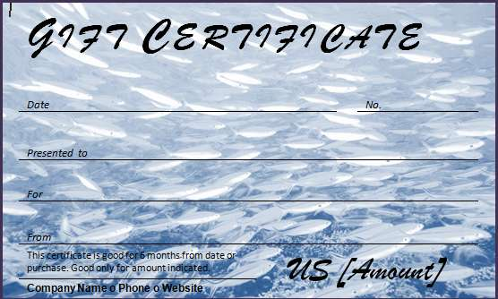 Gift Certificate for Fishing Trip