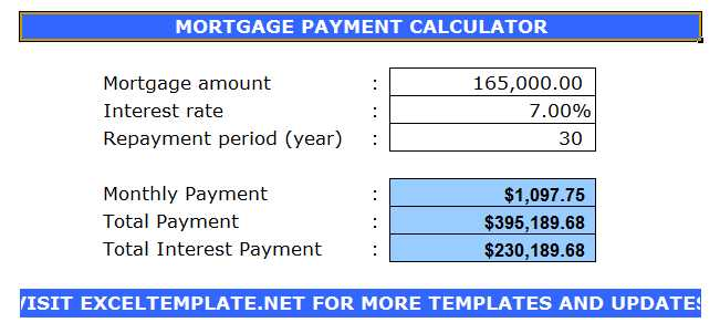 Loan Amortization Calculator Excel Template