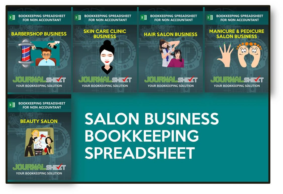 Salon Business Bookkeeping Spreadsheet Templates